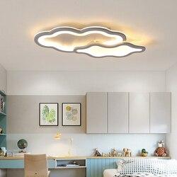 NEO Gleam Clound Shape nowoczesne oświetlenie sufitowe Led oświetlenie do sypialni pokój dziecięcy pokój dziecięcy szary kolor 90 260V lampy sufitowe|Oświetlenie sufitowe|Lampy i oświetlenie -