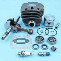 50mm Cylinder Piston Kit Crankshaft Bearing Decompression Valve For Husqvarna 372 365 371 362 Chainsaw Needle Cage NIKASIL PLATE