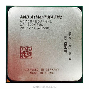 AMD Athlon X4 760K 760 K 3.8G Quad-Core CPU Processor AD760KWOA44HL Socket FM2
