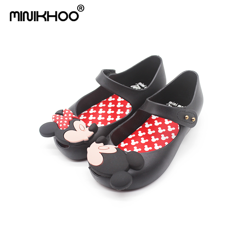 d58a5126f4404 Mini Melissa 2018 Brazil New Jelly Shoes Mickey   Minnie Girls Shoes  Crystal Mini Melissa Baby Jelly Sandals Shoes Non-slip