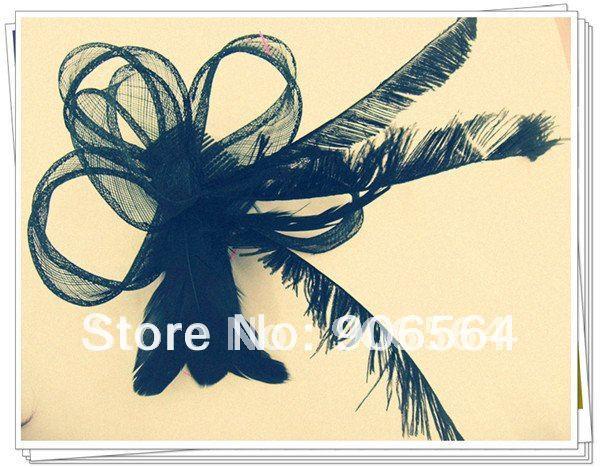 Элегантные черные свадебные шляпки из соломки синамей с вуалеткой в винтажном стиле хорошее Свадебные шляпы высокого качества Клубная кепка очень хорошее множество различных цветовых MSF102