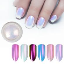 2020 Новый блеск для ногтей жемчужный неоновый розовый Русалка жемчужная зеркальная пудра для украшений