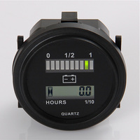 Free Shipping ROUND 3 Color LED Battery Indicator And Hour Meter For Golf Carts Car Electric