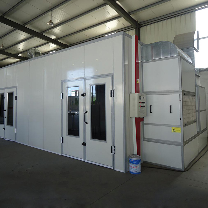 High Quality Dust free Furniture Spray Booth Electric Heating System With Water Curtain