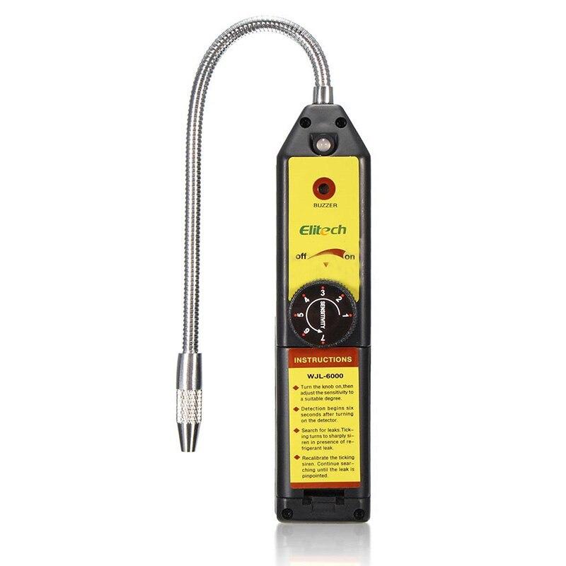 ELITECH WJL-6000 air conditioning Halogen GAS Leak Detector Freon gas analyzer CFC HFC Halogen Gas Refrigerant Leak Detector Air