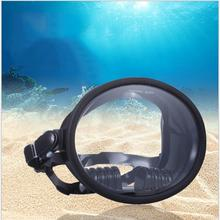 UV Protection Free Diving Mask Scuba Dive Diving Spearfishing Goggles Glasses with Food Grade Silicone Strap Black недорого
