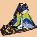 """Да хуа унисекс новое цветы шарф """" геометрическая разложение """" 90 шелковый шарф 100% шелк саржевые шарфы платок печатных"""