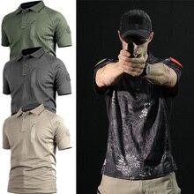 Высококачественная уличная камуфляжная футболка для охоты, Мужская дышащая армейская тактическая Боевая футболка, военная сухая Спортивная камуфляжная походная футболка