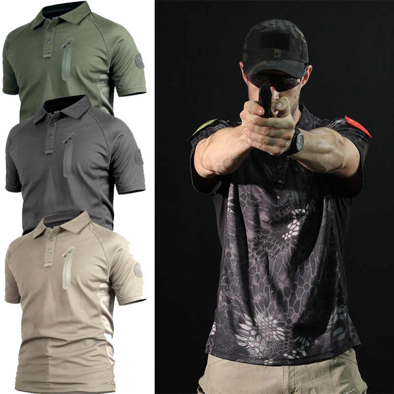 High Quality Outdoor Hunting Camouflage T-shirt Men Breathable Army Tactical Combat T Shirt Military Dry Sport Camo Camp Tees
