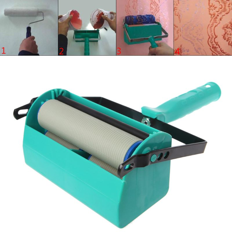 Double Color Wall Decoration Paint Painting Machine 7 Inch For Roller Brush Tool 3D Pattern Wallpaper Decoration Painting Tool