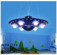 Creative UFO Chandelier UFO Boy Cartoon Children Bedroom Lighting LED Living Room Study Lighting Restaurant Light