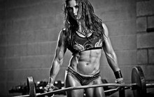 Living room bedroom home wall decoration fabric poster fitness bodybuilder female girl gym training abs YR192