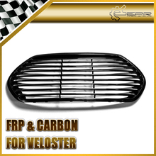 Car-styling For Hyundai Veloster Devil Mouth FRP Fiber Glass Front Grille Mesh Grill