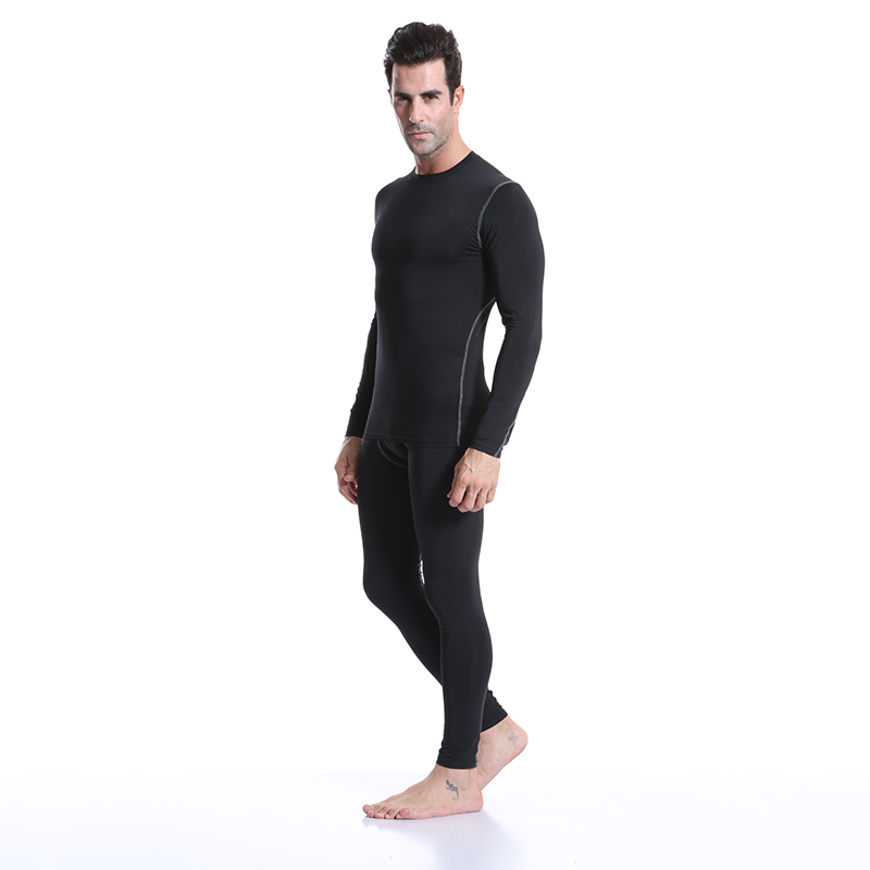 Image 4 - Yuerlian 2 pcs Fitness Tights Running Set Quick Dry Gym Sportswear Long Sleeve T Shirt Legging Pants Tracksuit Men Sports Suits-in Running Sets from Sports & Entertainment on AliExpress