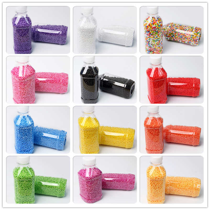 300ml/Bottle or 1pack DIY Warm Color Snow Mud Particles Accessories Tiny Foam Filler Beads Slime Balls Supplies