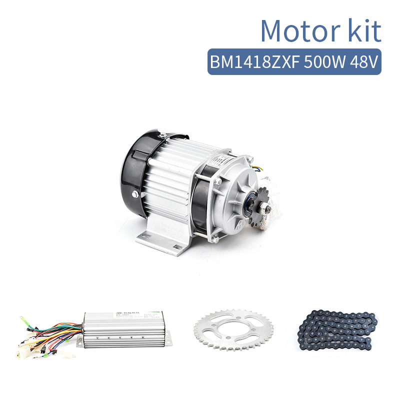 цена на BM1418 500W 48V DC Brushless BLDC Motor Kit Electric Tricycle Motor Complete Kit Mid Drive Engine Set With Controller E-Car Part