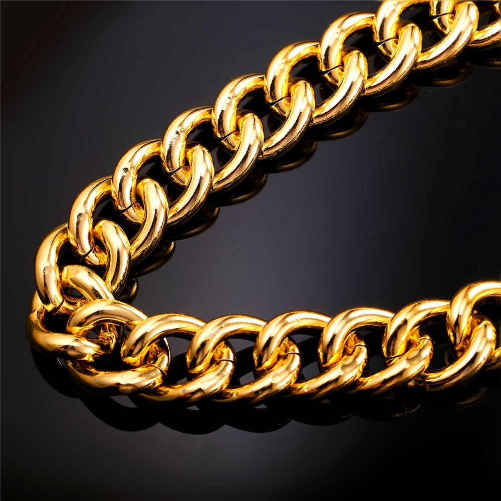 Duży gruby Hiphop Chunky długi łańcuch dla mężczyzn 100/120 CM fajne materiał podstawowy ciężki Punk łańcuch N2313G