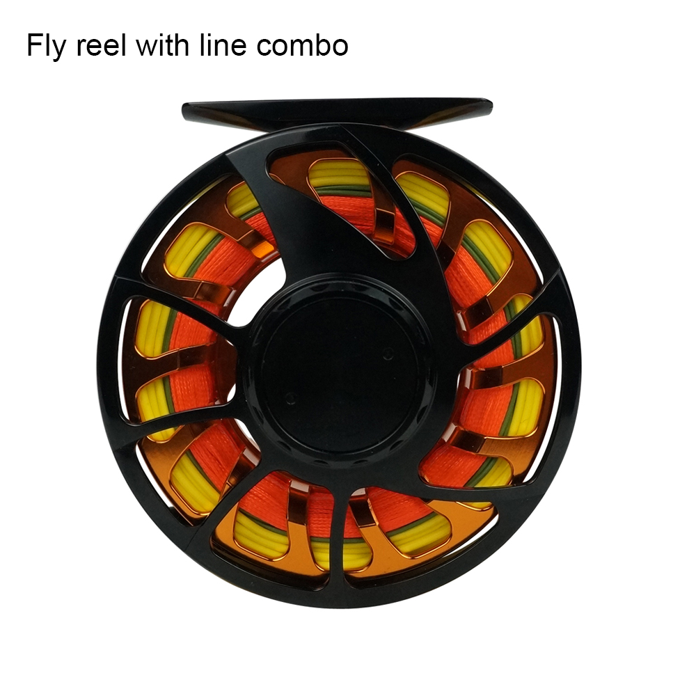 Aventik Double Color Switch Fly Fishing Reel With Backing Switch Line Tippet Combo Fishing Switch Reel