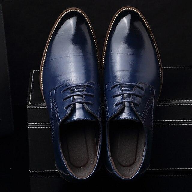 Обувь Большие размеры для мужчин 37-48 износостойкие lncrease платье обувь Мужская весна/осень кожаные туфли бренд формальная обувь zapatos