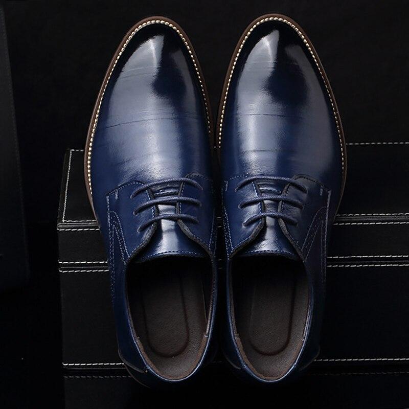 Chaussures hommes grande taille 37-48 résistant à l'usure lncrease robe chaussures hommes de printemps/automne chaussures en cuir marque formelle chaussures zapatos