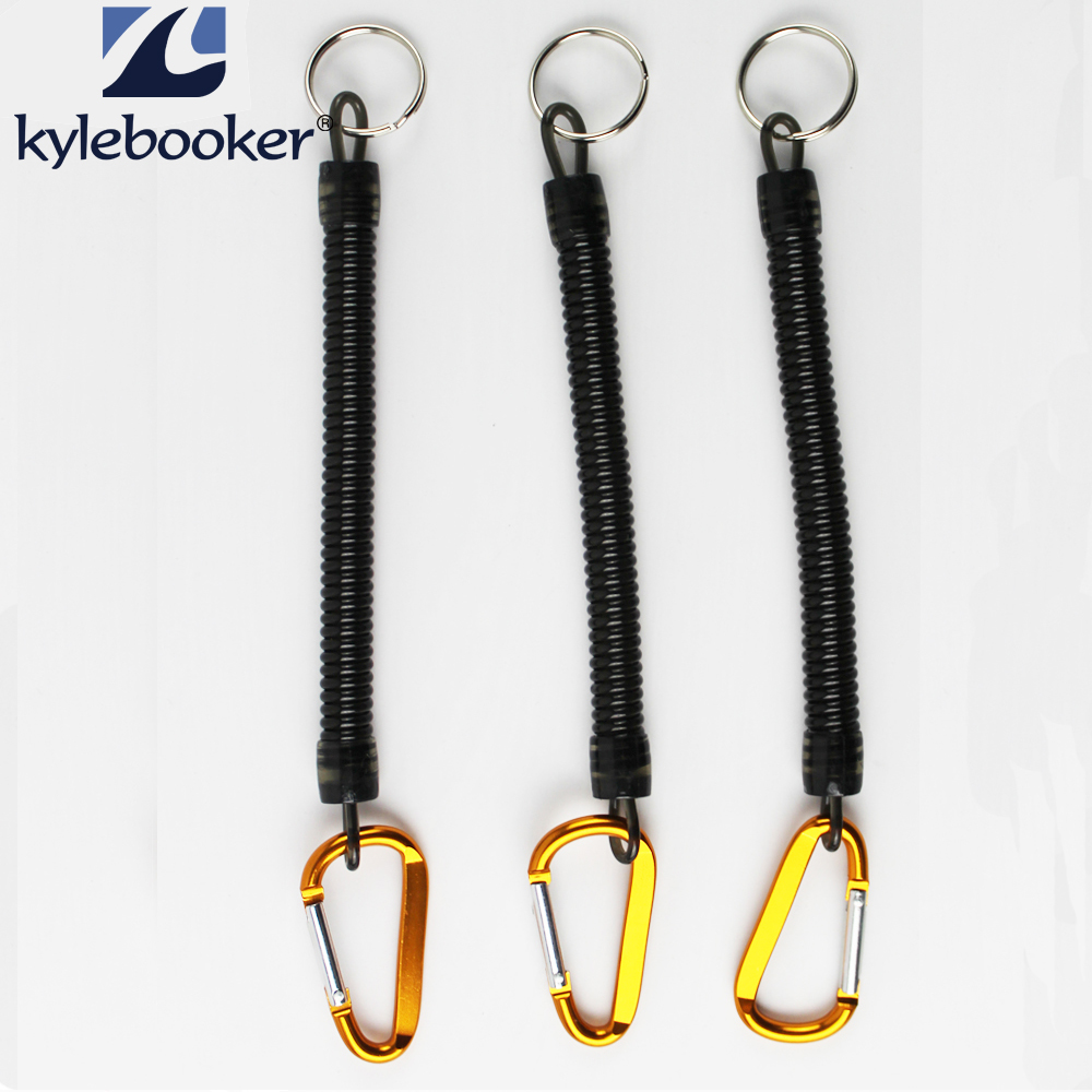 3 stk Fly Fishing Hiking Buckle Uhell Rope Baits Plier Control Hengende Buckle Retractable Elastic Gold Head Black Line Rope
