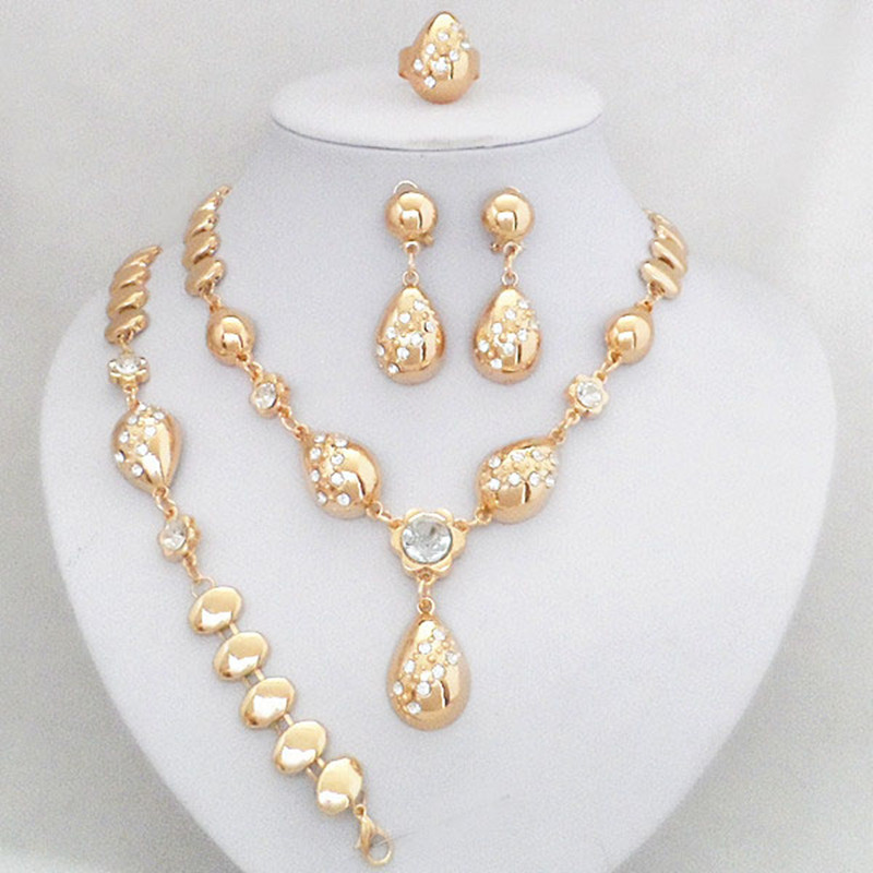 Fashion Women Gold Color Jewelry Sets