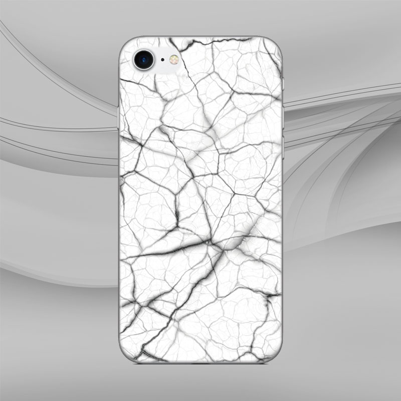 White Black Marble Back Skin Cover For Iphone X 4 4s 5 5s Se 5c 6 6s