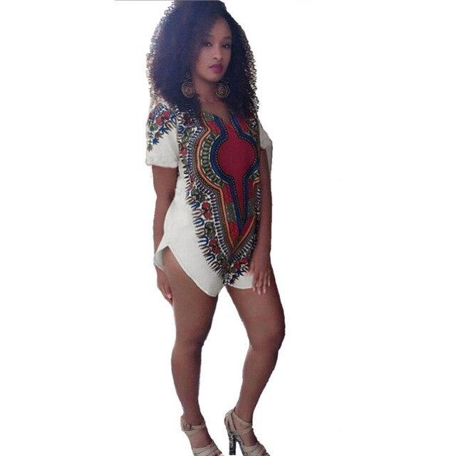 2018 Fashion Women Short Sleeves Summer Mini Dress Vestidos Sexy African  Print Casual Kaftan Mini Dress Ropa Mujer Plus Size e83eaa7d64ae