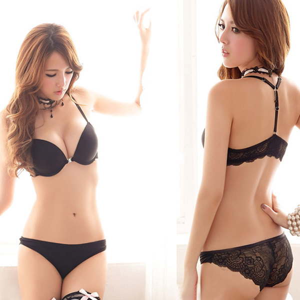 Womens Sexy Lingerie Racerback Front Closure Cup B Lace Underwear Bra Panty  Sets-in Bra   Brief Sets from Underwear   Sleepwears on Aliexpress.com  5b8e548a5