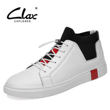 CLAX Mens Shoes Genuine Leather Casual Shoe Male Spring Autumn Walking Footwear Sneakers Fashion Designer Men