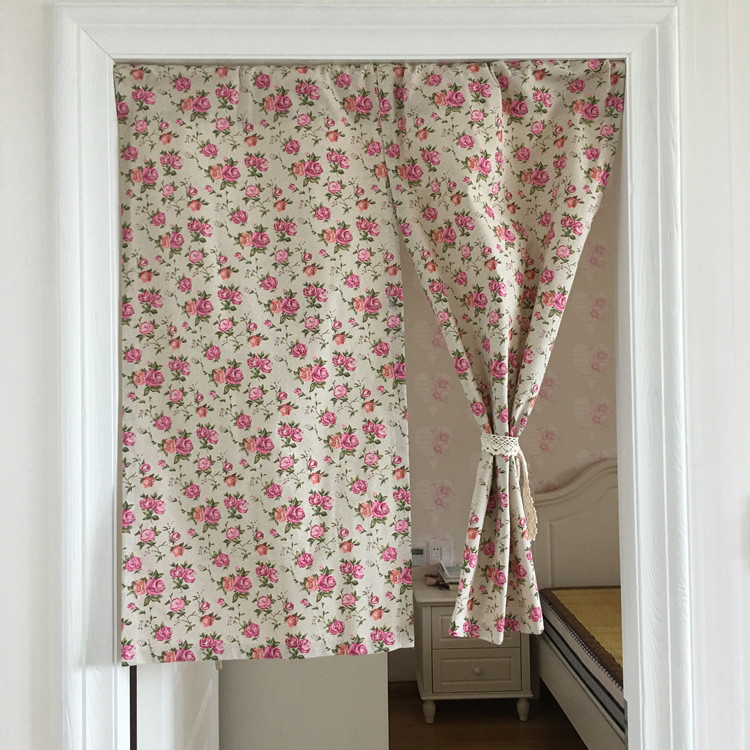 Kitchen Cabinets With Curtains Instead Of Doors: Half Curtain Countryside Style Cotton Curtain Cartoon