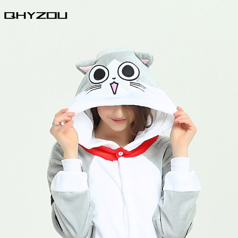 Cheese Cat Kigurumi unicorn Cartoon Pyjamas Animal Pajamas Sleepwear Onesie women Costum ...