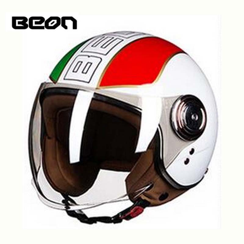 Classic BEON B-110B motocross open face Helmet for men women, motorcycle MOTO electric bicycle safety scoote dirt bike helmet lovers juicy dot zeus zs 210c half face motorcycle helmet motorbike moto motocross helmets for women and men scoote dirt bike