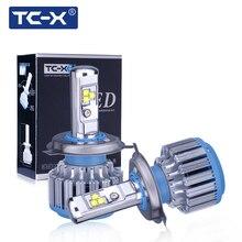 TC-X Feux De Voiture LED Phare Kit H11 9006/HB4 H8 H9 Principal faisceau Plongé Faisceau Brouillard Lumière Lampe Remplacement Turbo Ventilateur Ampoules 6000 K 12 V