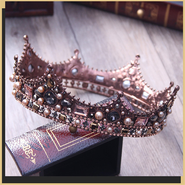 3 style Court Retro Baroque Bridal Tiara Bride Queen King Crown Wedding Hair Jewelry Accessories Women Pageant Prom Headpiece