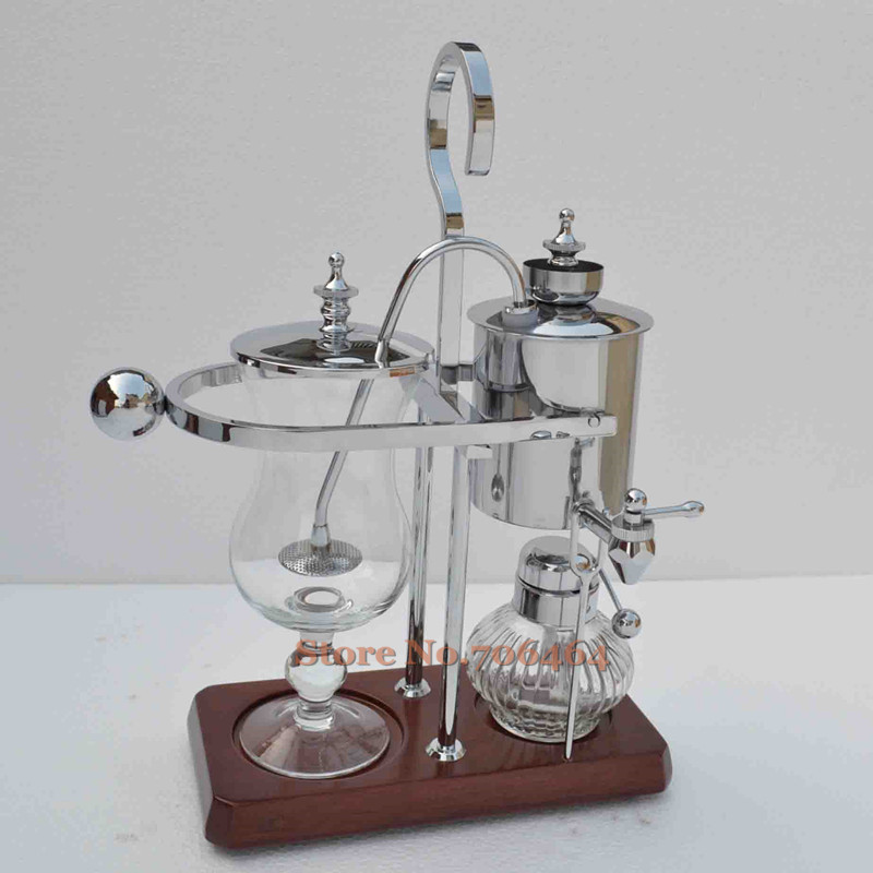 Silver Belgium royal brewer Siphon coffee maker high quality Balancing coffee machine with ...