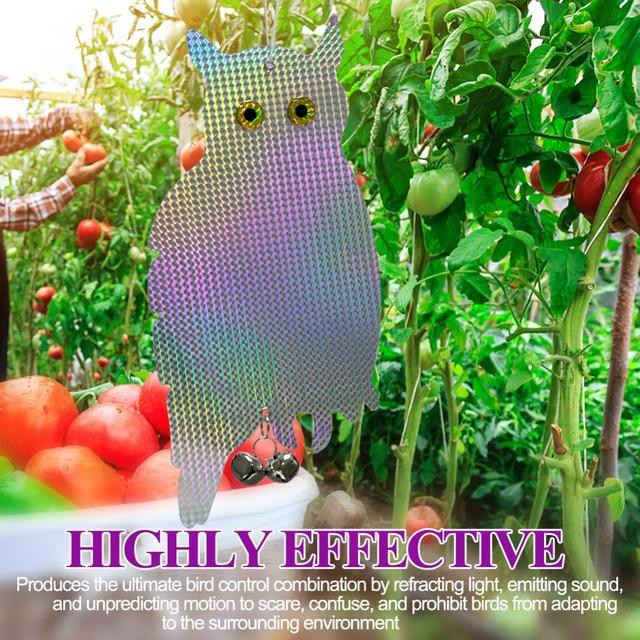 Reflective Owl Scares Bird For Garden.