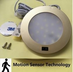 3 w LED bajo el gabinete abajo luces de techo blanco puro con interruptor de Sensor de movimiento barco/caravana Auto accesorios para Camping