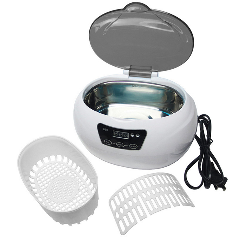Ultrasonic cleaner sterilizer professional washing machine 600ml pot cleaners jewelry watches glasses washing equipment 12pcs sterilizer pot salon nail tattoo clean metal watches gem tool equipment ultrasonic autoclave cleaner free shipping