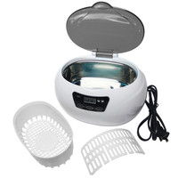 Ultrasonic cleaner sterilizer professional washing machine 600ml pot cleaners jewelry watches glasses washing equipment