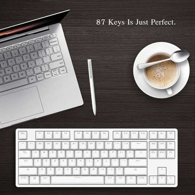 Xiaomi MK01 87 keys Gaming Keyboard Backlit TTC Red Switch Backlight Aluminium Alloy Mechanical Keyboard LED for Gamer Laptop PC rainbow gaming backlight keyboard 87 keys colorful mechanical keyboard with blue black switches desktop for pc laptop