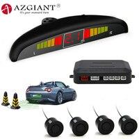 AZGIANT przeciw zamarzaniu czujnik parkowania samochodu z 4 system czujników z cyfrowym kolorowym wyświetlaczem LED dokonać cofania łatwiejsze i bezpieczniejsze w Czujniki parkowania od Samochody i motocykle na