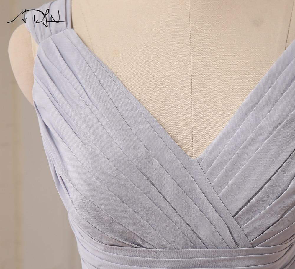 Cap Sleeve Chiffon Lace Up Back Knee Length Short Bridesmaid Dress