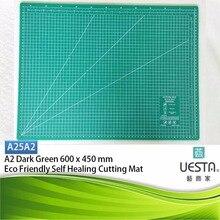 Dunkelgrün 2,5mm Rechteck Self Healing Umweltfreundliche TPE Schneidematte A2 60×45 cm 24×18 zoll
