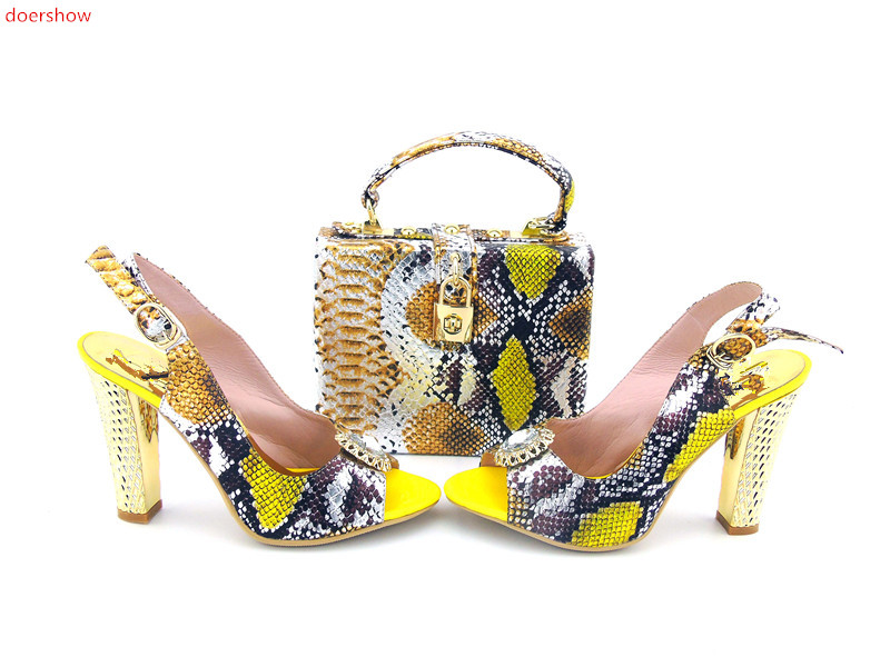 doershow Matching Shoes and Bag Set Decorated with Rhinestone Women Shoe and Bag Set Italian Deisgn Shoe and Bag Set!TU1-5 story cubes кубики историй животные
