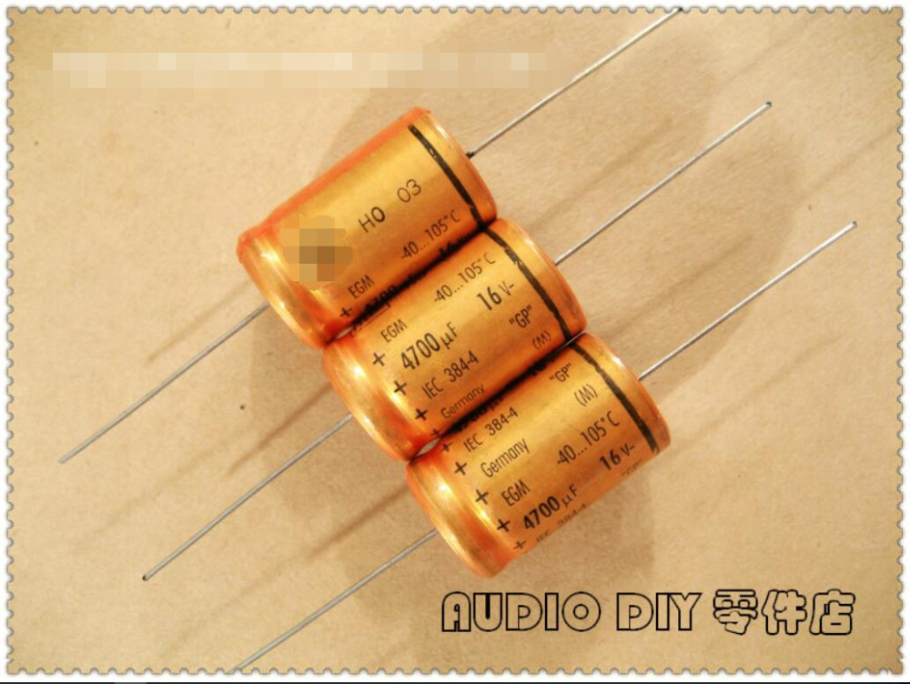 .The New ROE EGM Series 4700uF / 16V Gympie Axial Electrolytic Capacitors ( German Original Box )