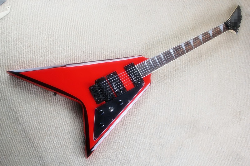 free shipping High Quality Flying V Jackson Red Electric Guitar 15 6 25