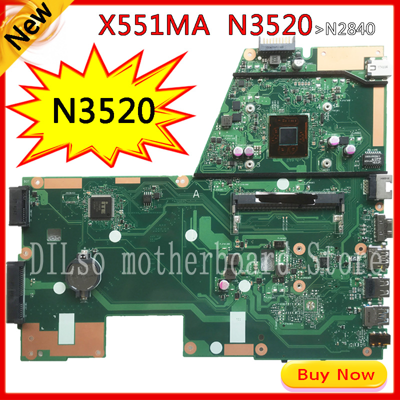 KEFU x551ma For ASUS X551MA Laptop Motherboard motherboard N3520 F551MA motherboard 90NB0480-R00100 REV2.0 Test все цены