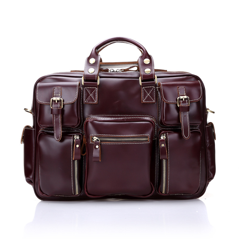 где купить High-end genuine leather male large capacity first layer cowhide men travel business Stereo bags men's luggage дешево
