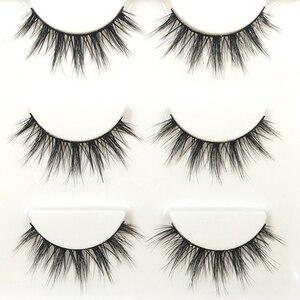 Image 4 - YOKPN 3 Pairs 1 Box Lashes Fashion 3D Stereo Fasle Eyelashes Simulation Makeup Fake Eye Lashes Short Eyelash Extension Tools